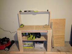 Made a workbench with my new tools.to make more things Making A Workbench, Handmade Crafts, Diy Tutorial, Diys, Decor Ideas, Tools, Board, How To Make, Furniture