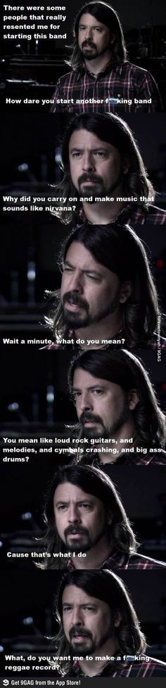 Dave Grohl being awesome