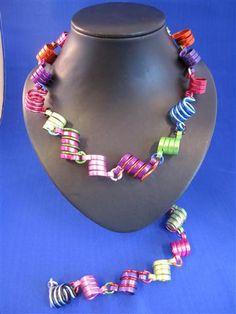Funny colourfull handmade necklace (aluminium wire)