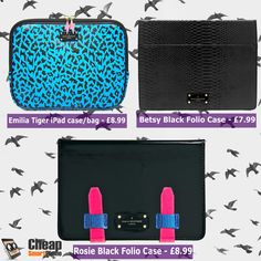 Pauls Boutique iPad cases & bag. Make your iPad on point! Spoil yourself in the name of fashion!                     link:http://www.ebay.co.uk/usr/cheap_smartphone?_trksid=p2047675.l2559