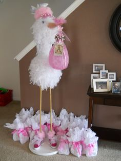 diy stork | DIY stork for baby shower!