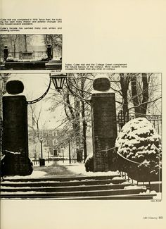 """Athena Yearbook, 1984. """"180 Years of History."""" """"Today, Cutler Hall and the College Green complement the natural beauty of the campus. More students have crossed this Green than any other on campus."""" :: Ohio University Archives."""
