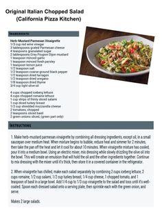 California Pizza Kitchen: Original Italian Chopped Salad