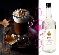 Syrop o smaku Irish Cream to  połączenie smaków irlandzkiej whisky, śmietany, wanilii i czekolady w wersji bezalkoholowej. Irish Cream, Whisky, Coffee, Tableware, Kaffee, Dinnerware, Tablewares, Cup Of Coffee, Whiskey
