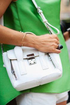 Street style A/W trends: Phillip Lim, Balenciaga, Mary Katrantzou, Isabel Marant Classic Handbags, Trendy Handbags, Luxury Handbags, Isabel Marant, Handbag Accessories, Fashion Accessories, Balenciaga, Phillip Lim Bag, Harper's Bazaar