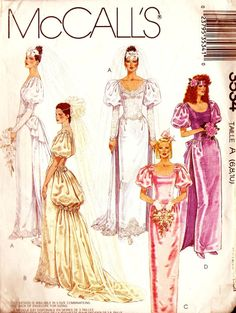 1980s Wedding Fashion Patterns from the Pattern Patter Team by Janet Chiocchi on Etsy