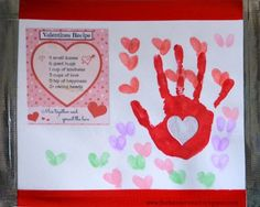 Handprint Placemat Craft for Valentine's Day - Keepsake