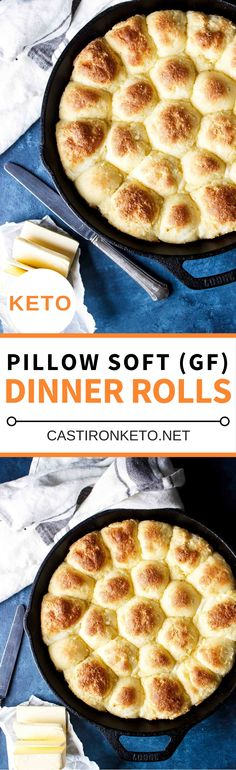 Keto Rolls (gluten free + how-to video!) - Cast Iron Keto Melanie Lackey rmlackey Keto Diet These Keto Dinner Rolls are soft, pillowy, and absolutely delicious! Based on the Fat Head Dough recipe you just can't go wrong. Melanie Lackey These Keto Di Keto Foods, Ketogenic Recipes, Low Carb Recipes, Cooking Recipes, Cooking Cake, Donut Recipes, Beef Recipes, Dessert Recipes, Pan Cetogénico