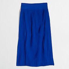 Factory pleated midi skirt