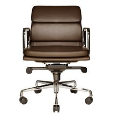 Wobi Office Clyde Low-Back Leather Office Chair | AllModern