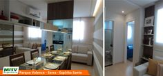 Apartamento decorado 2 quartos do Parque Valence no bairro Carapebus - Serra - ES - MRV Engenharia - MRV Engenharia - Sala de Jantar.