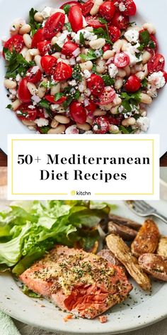 30 quick and easy Mediterranean diet recipes! These Mediterranean recipes that you'll love! Try the Mediterranean diet if you want to improve your health and eat clean without restricting yourself! Easy Mediterranean Diet Recipes, Mediterranean Dishes, Mediterranean Diet Breakfast, What Is Mediterranean Diet, Mediteranian Diet Recipes, Med Diet, Meditranian Diet, Zone Diet, Diet Detox