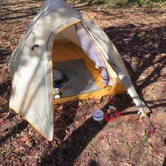 テント 試張りしてきました。うわさ通り薄い生地でボトム部分はかなり注意が必要ですね。 #ビッグアグネス #ul2