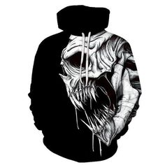 Skull Black Hoodies Sweatshirt Funny Print Long Sleeve Pullovers Tracksuit Leisure Fashion Hooded Shirts with Pocket Spring Autumn Casual Clothes Stylish Hoodies, Skull Hoodie, Funny Sweatshirts, Cycling Outfit, Streetwear Fashion, Streetwear Men, Black Hoodie, Sport Outfits, Printed Hoodies