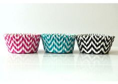 Chevron Cupcake Liners - Set of 20 First Birthday Parties, First Birthdays, Kid Parties, Party Food Supplies, Ninja Party, Cupcake Liners, Paper Straws, Party Ideas