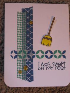 Paper Smooches Squeaky Clean card - perfect for a man!
