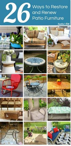 Sandrau0027s Ark: Patio Furniture   Tips, Tricks U0026 Projects