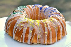 Low-Fat version of King Cake for Mardi Gras cause even people on a diet need to celebrate Fat Tuesday!