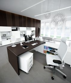 Office Furniture, Modern Furniture, Office Table Design, Corner Desk, Living Room, Jewelry Showcases, House, York, Home Decor