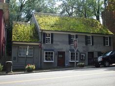 The Tavern Restaurant in Abingdon, VA. The oldest building in Abingdon. Yes, those are weeds growing on the roof.