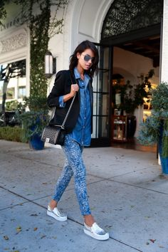 VIVALUXURY - FASHION BLOG BY ANNABELLE FLEUR: DENIM UNIFORM