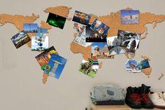 Un corcho en el que podés enchinchar postales y fotos de tus viajes pasados o algunas imágenes inspiradoras para futuras escapadas. Foto:nopuedocreer.com