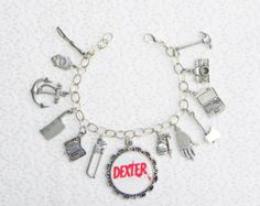 Dexter Inspired Bloody Beaded Charm by LilSoldiersBoutique on Etsy