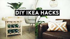 NASTAZSA New DIY Ikea Hacks for Transform ikea items into room decor the easy and affordable way! You must try these diy room decorations with ikea. Ikea Hacks, Ikea Furniture Hacks, Eco Furniture, Hacks Diy, Easy Hacks, Home Decor Hacks, Easy Home Decor, Cheap Room Decor, Diy Room Decor