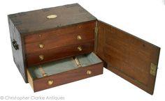 "W. H. Henslon's Chest, mid 19th century, 17 7/8"" x 24 1/4"" x 15"" - Christopher Clarke Antiques"