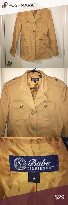 CLASSIC Tan Suede Leather Blazer Jacket Sz M This is a Beautiful BABE DIDRIKSON CLASSIC Tan Suede Leather Blazer Jacket in a Sz M, timeless style! Gently used condition! I ship fast! Happy poshing friends! babe didrikson Jackets & Coats Blazers