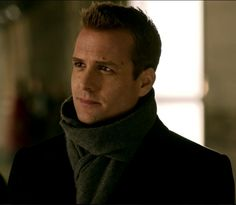 Harvey Specter in a scarf, this man can style...