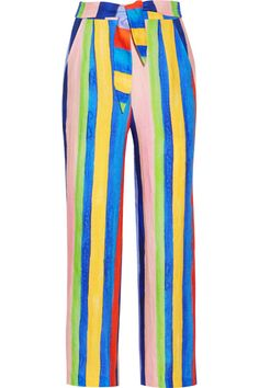 Mara Hoffman - Striped Organic Linen Wide-leg Pants - Blue - US10