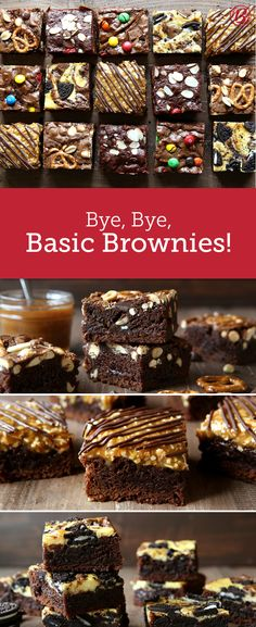 Start with a box of our fudge brownie mix and add creative mix-ins and toppings for a batch of brownies that will be anything but ordinary! Boxed Brownie Recipes, Brownie Toppings, Brownie Desserts, Brownie Bar, Brownie Shop, Cookie Dough Cake, Chocolate Chip Cookie Dough, Chocolate Brownies, Caramel Brownies