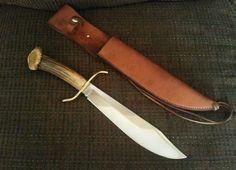 VINTAGE WESTERN W49 BOWIE KNIFE CROWN STAG CUSTOM #stag #custom #crown #knife #western #bowie #vintage