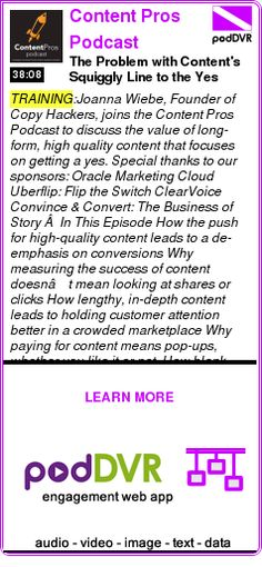 #TRAINING #PODCAST  Content Pros Podcast    The Problem with Content's Squiggly Line to the Yes    READ:  https://podDVR.COM/?c=e44e8bd7-35b0-cd90-0759-087bfb49bb49