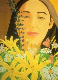 """""""Ada with Flowers"""" by Alex Katz"""