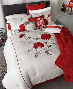 Tempo 22 Piece Comforter Sets - Bed in a Bag - Bed & Bath - Macy's- beautiful set but comforter is dry clean only.