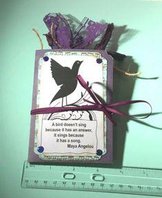 DESTASH New Daisy Bird Silohuette Stamp Block