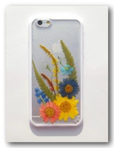 Handmade iPhone 6 case, Resin with Real Flowers, Pressed flower (22)