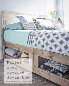 Pallet wood divan bed hack, tutorial by Hester's Handmade Home