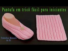 Zapatilla de tejer fácil para principiantes - YouTube Lace Knitting Patterns, Knitting Stitches, Knitting Designs, Crochet Designs, Crochet Bra, Crochet Sandals, Crochet Shoes, Knit Slippers Free Pattern, Knitted Slippers