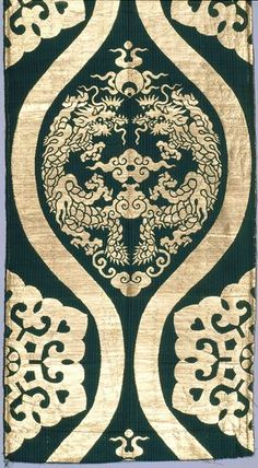 """Unknown artist, """"Buddhist Temple Furnishing Fabric (fragment),"""" 1850-1875; Indianapolis Museum of Art, The Eliza M. and Sarah L. Niblack Collection, 33.559"""