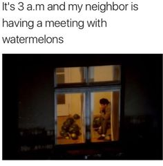 meeting with melons