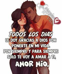 Romantic Spanish Quotes, Cute Spanish Quotes, Romantic Quotes, Missing You Quotes For Him, Love Quotes For Boyfriend, Love Quotes For Her, Morning Love Quotes, Good Morning Love, Love Phrases