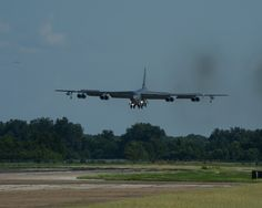 B-52H Stratofortress returns home to Barksdale Air Force Base, Louisiana, Aug. 12, 2014 following a 15.5-hour sortie from the United States to the U.S. Southern Command area of operations during PANAMAX 2014. An annual U.S. Southern Command-sponsored multinational exercise, PANAMAX focuses on ensuring the defense of the Panama Canal.