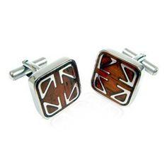 Unique Designer Cherry Wood Stainless Steel Cufflinks by Cuff-Daddy Cuff-Daddy, http://www.amazon.com/dp/B000ZW4IZQ/ref=cm_sw_r_pi_dp_ACGbrb1T6D00B