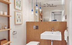 A touch of color in the bathroom.