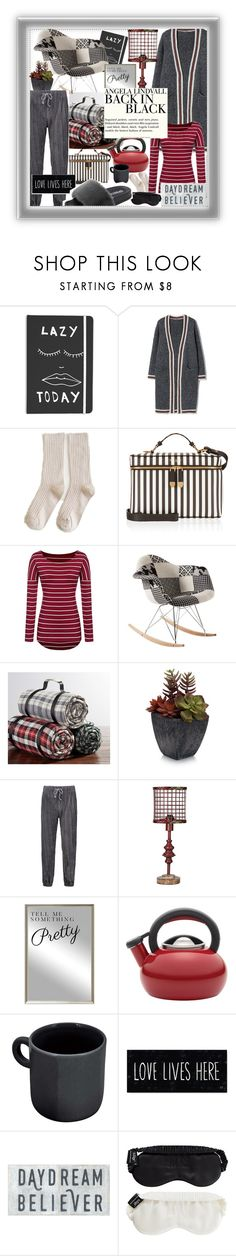 """""""Lazy home days,show some fashion all in grays! 📖"""" by jelena-bozovic-1 on Polyvore featuring Henri Bendel, Pottery Barn, Elements, Oliver Gal Artist Co., Circulon, H&M and Slip"""