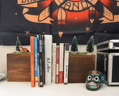 diy: Forest Bookends