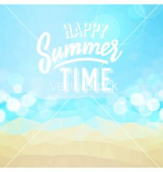 Summer tropical holidays background vector by ildogesto on VectorStock®